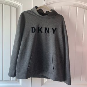 Dkny zip up crewneck
